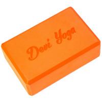 Блок для йоги оранжевый