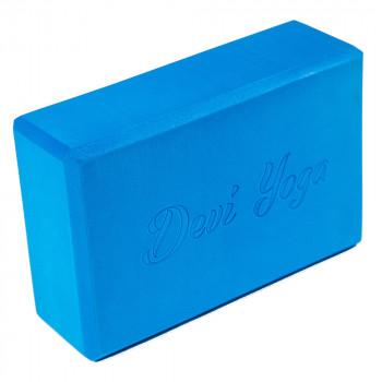 Блок для йоги синий