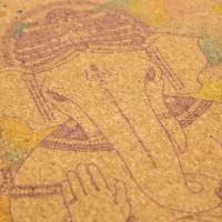 Пробковый коврик для йоги Ganesha