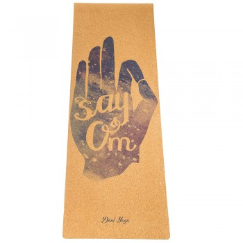 Пробковый коврик для йоги Say Om