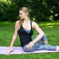 Коврик ПВХ для йоги Папоротник