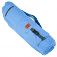 Хлопковая сумка для коврика Сутра синяя