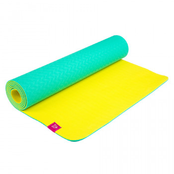 Коврик для йоги ТПЕ Лайм